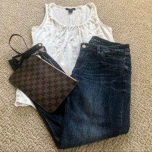 White House black market skimmer jeans